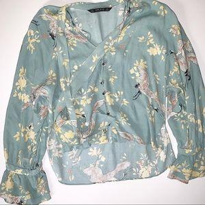 Zara Basic Medium Crop Long Sleeve